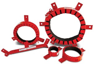 "4"" Red Firestop System Pipe Collar"