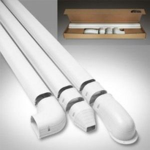 Wall Mount Line Set Duct Kit, Ivory