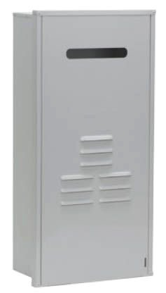 "15.306"" x 9.19"" x 40.875"" Universal Water Heater Recess Box - Galvanized / Powder Coated, Steel"