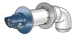 Horizontal Concentric Universal Water Heater Vent Termination Kit, Aluminum/Plastic