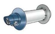 "11.5"" Universal Non-Condensing Water Heater Vent Termination Kit - Ubbink, Plastic"