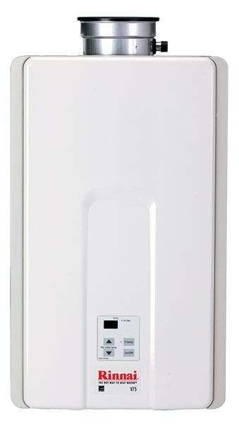 Tankless Water Heater, Natural Gas, V75i, Value 10300 to 180000 BTU/HR