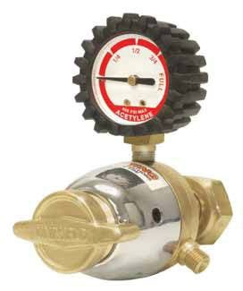 Light Duty 1-Stage Acetylene Welding Regulator - Forged Brass