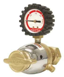 Light Duty 1-Stage Acetylene Welding Regulator - Forged Brass