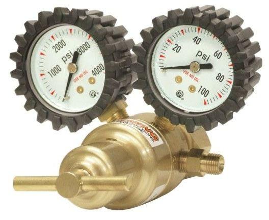Light Duty 1-Stage Oxygen Welding Regulator - Forged Brass