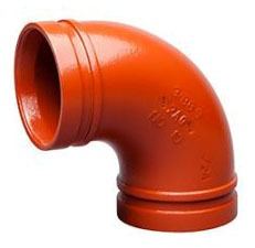 """4"""" Ductile Iron Grooved 90 Elbow - Painted"""