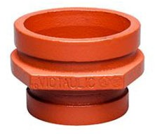 "6"" x 4"" Painted Orange Enamel Ductile Iron Concentric Reducer - Grooved"