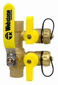 "1-1/4"" Forged Brass Full Port Ball Valve - Pro-Pal / Purge and Fill, Reversible Lever Handle, Soldered, 600 psi WOG"