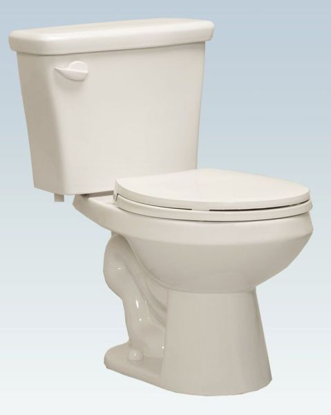 1.28 or 1.6 GPF Round Front Bowl Bottom Outlet Toilet, White