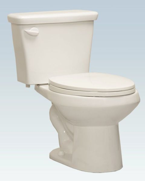 1.28 or 1.6 GPF Elongated Bowl Bottom Outlet Toilet, White