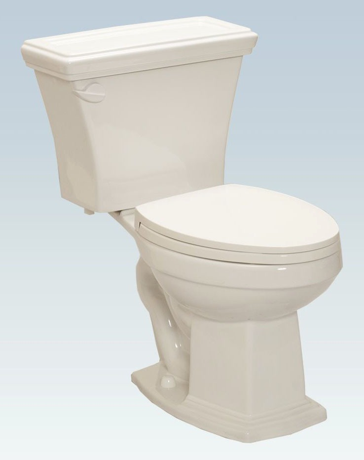 Floor Mount Elongated Toilet Bowl - Easy-Height, Cashmere, 1.28 Gpf