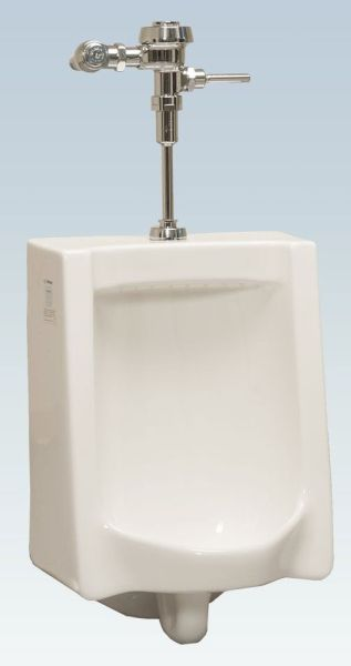 """Commercial Washdown Urinal - 1 GPF, 3/4"""" Top Spud Inlet, White"""