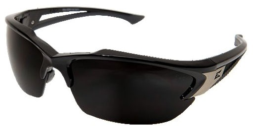 Smoke Lens Safety Glasses - Gloss Black Frame