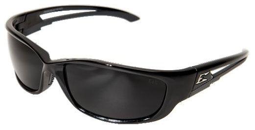 Smoke Lens Safety Glasses - Gloss Black Frame
