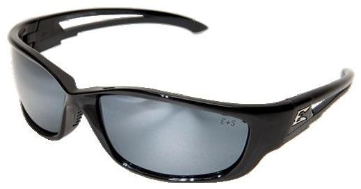 Silver Mirror Lens Safety Glasses - Gloss Black Frame