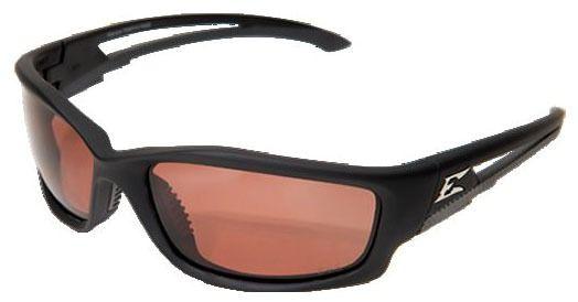 Copper Lens Safety Glasses - Rubberized Matte Black Frame