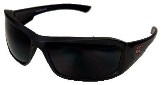 Smoke Lens Safety Glasses - Rubberized Matte Black Frame