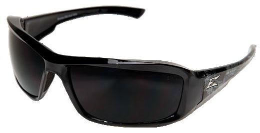 Smoke Lens Safety Glasses - Gloss Black Skull Frame