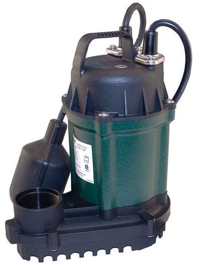 "115 VAC, 60 Hz, 3.8 A, 1-Phase, 1/4 HP, 1-1/2"", NPT, 32 GPM, Baked Enameled Rugged Cast Iron, Submersible, Effluent Pump"