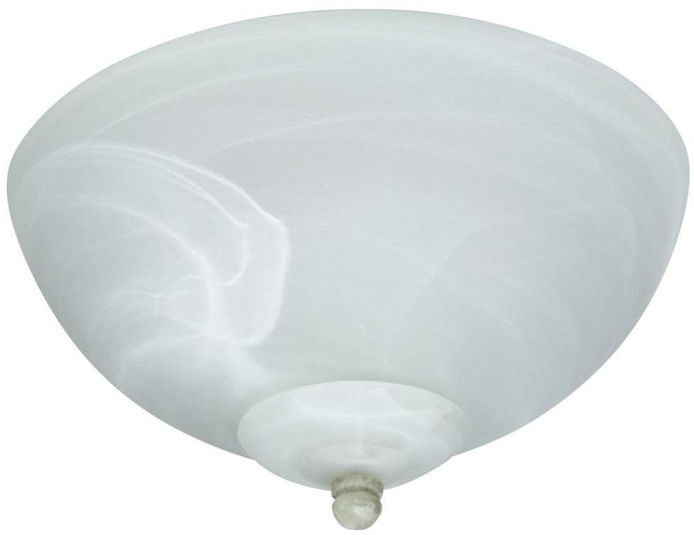 Economy Bowl Ceiling Fan Light Kit, Alabaster