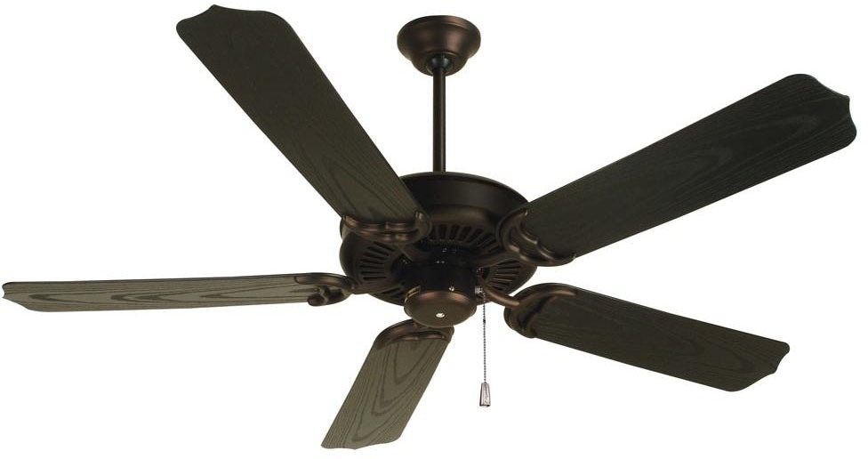 3-Speed Non Reversible Standard Traditional AC Ceiling Fan Motor, Oiled Bronze