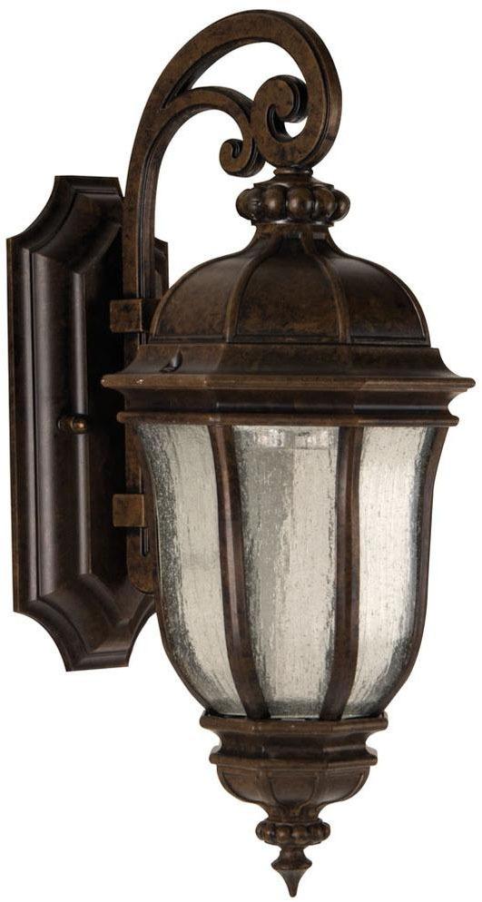 1-Light 60 W Outdoor Wall Light - Exteriors / Harper, Peruvian Bronze
