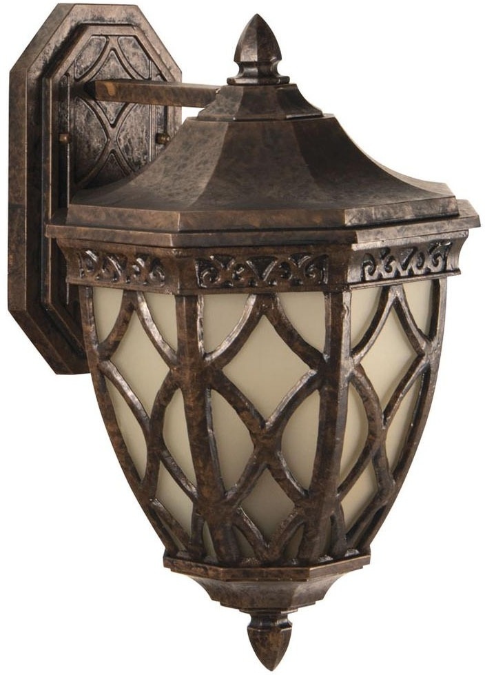 3-Light 60 W Outdoor Wall Light - Exteriors / Evangeline, Peruvian Bronze