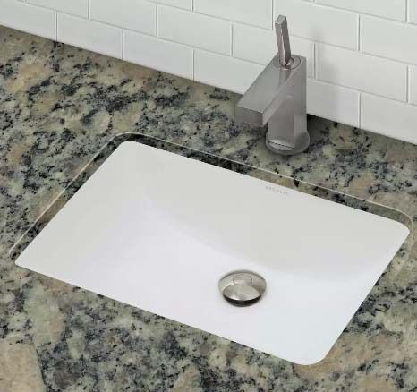 "21-5/8"" x 15-3/4"" Undermount Bathroom Sink - Classically Redefined, Ceramic White, Vitreous China"