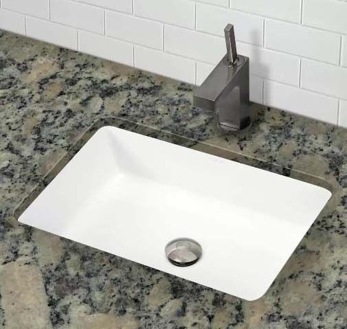 """20-3/4"""" x 16-3/8"""" Undermount Bathroom Sink - Classically Redefined, 1-Hole, Ceramic White, Vitreous China"""