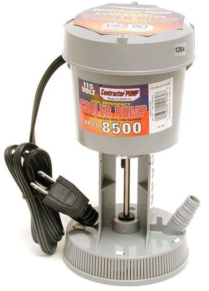 """1/2"""" and 5/8"""" Hose 1/60 HP Evaporative Cooler Concentric Pump - 8500 CFM, 115 V, 0.9 A"""