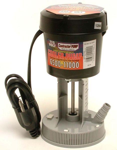 """5/8"""" and 3/4"""" Hose 1/40 HP Evaporative Cooler Concentric Pump - 8500 to 15000 CFM, 115 V, 1.2 A"""