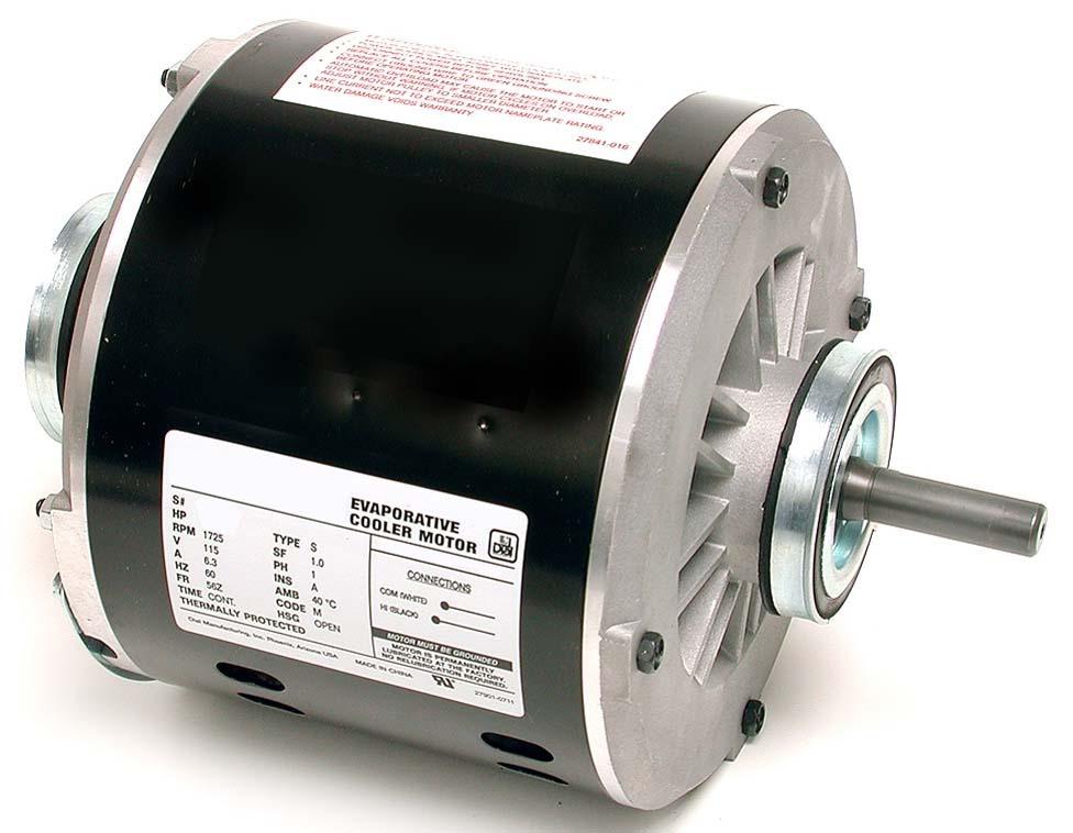 """1/2 HP Evaporative Cooler Motor - 115 V, 1/2"""" Shaft, 2-Speed"""