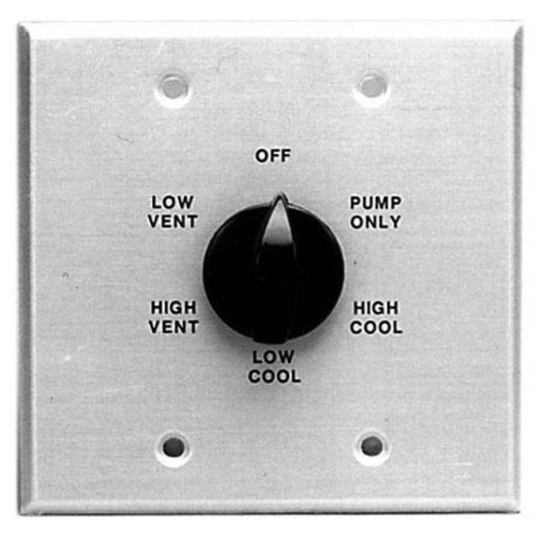 Evaporative Cooler Wall Switch, Metal Plate