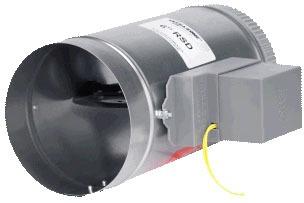 Round Single Blade Spring-Return Air Zone Control Damper, Steel