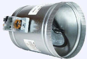 """10"""" Round Single Blade Air Zone Control Damper, Steel"""