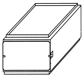 "21"" x 14-1/2"" x 12"" Downflow Furnace Filter Access"