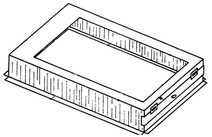 """24"""" x 24"""" Gas Furnace Filter Base - Metal"""