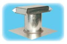 "7"" J Clearance Roof Vent, Galvanized Steel"