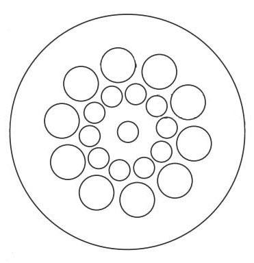 "4"" Floor Sink Drain - HYBRID, Bottom Outlet, Round Top, Glass Filled Polypropylene"