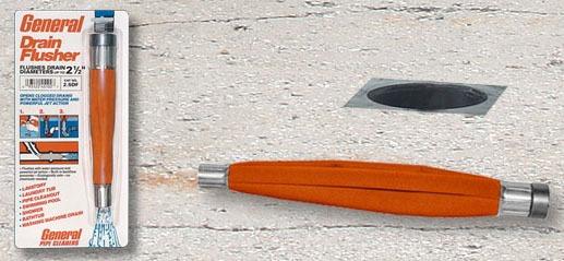 "1-1/2"" Water Pressure Drain Flusher, Tough Reinforced Nylon"