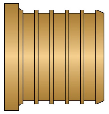 "1-1/4"" Solid Brass Straight Plug Insert"