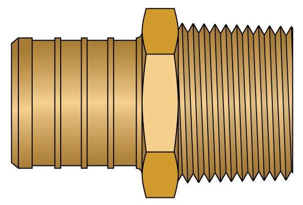 "1"" X 3/4"" Brass Reducing Adapter"