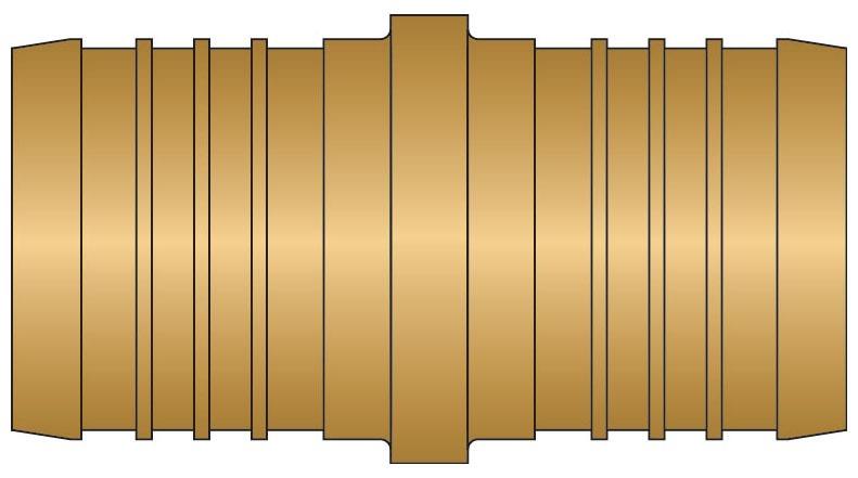 "1-1/2"" Brass Straight Coupling - PEX Insert"