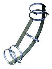 """4"""" Stainless Steel Pipe Restraint Kit - Series 117-K, No Hub, 90D, 1/4 Bend"""