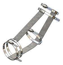 "4"" Stainless Steel Pipe Restraint Kit - Series 117-L, No Hub, 45D, 1/8 Bend"