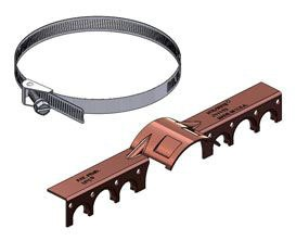 "1/2""/3/4"" CTS Copper Bonded Steel Pipe Bracket"