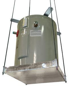 Ceiling Mount Suspended Pre-Assembled Watertight Water Heater Platform, Steel
