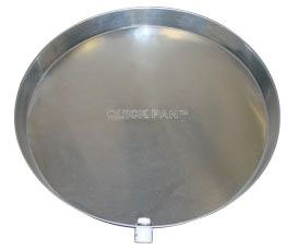 """30"""" Water Heater Drain Pan with CPVC Drain Fitting - QUICK PAN, Aluminum Alloy"""