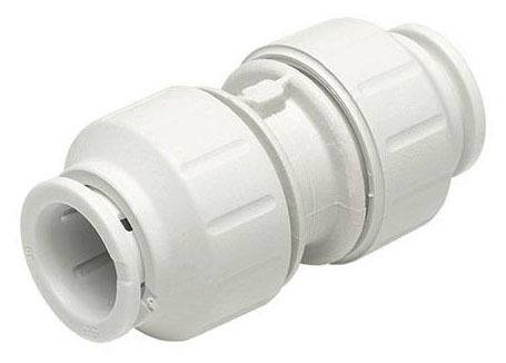 "1/2"" Plastic Straight Coupling - Speedfit, Push-Fit"