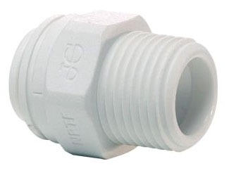 "3/8OD X 1/2"" Polypropylene Male Reducing Adapter"